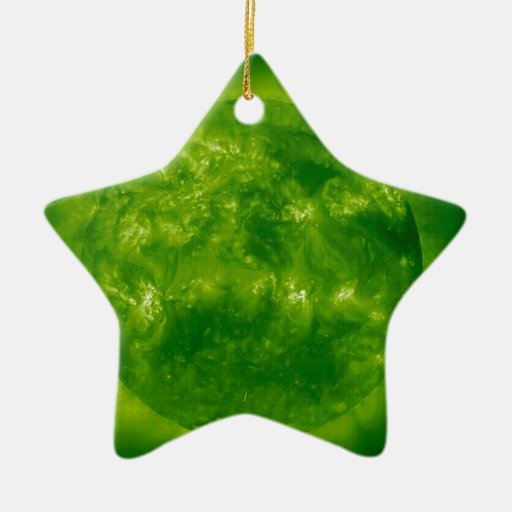Green Star Blue Star Christmas Ornament