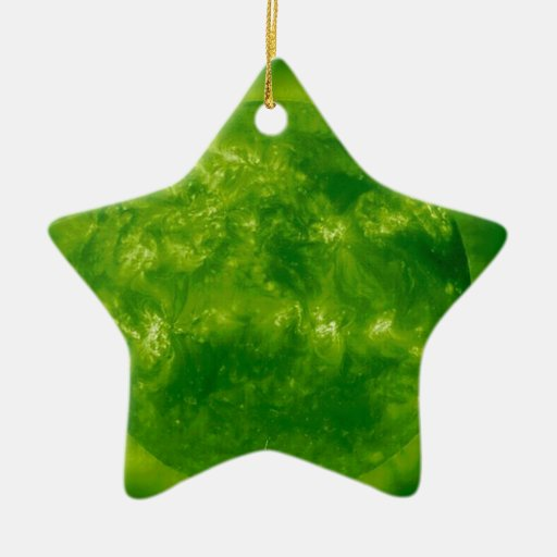 GREEN Star RED Star Christmas Ornament