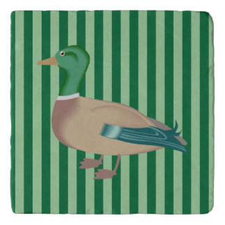 Green Striped Duck Trivet