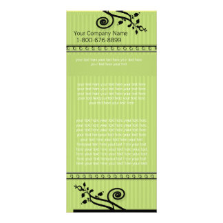 Green Striped Rack Card
