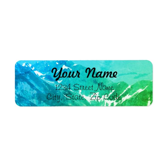 Green Summer Mountains Address Labels