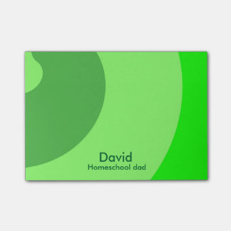 Green Swirls for Homeschool Dad Post-it Notes
