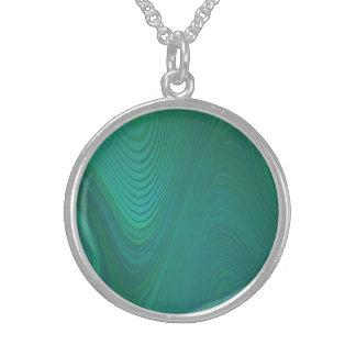 Green Swirls Round Pendant Necklace
