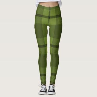 GREEN TARTAN LEGGINGS