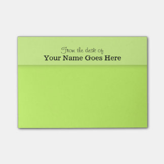 Green teachers name desk note organizer post-it® notes