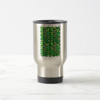 Green Theme Military Camouflage Wave Pattern Mugs
