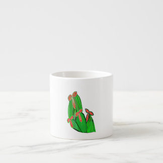 Green Theme Water Colors - CACTUS Cacti Espresso Cup