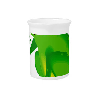 Green thinking frog beverage pitchers