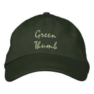 Green Thumb Embroidered Cap Embroidered Baseball Caps