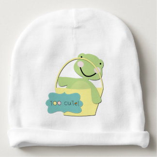 Green Too Cute Turtle Baby Beanie