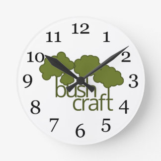 Green trees, bush craft round clock