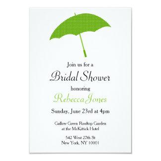 Green Umbrella Bridal Shower Invitation