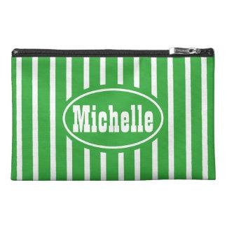 Green V Stripe Western Travel Accessory Bag
