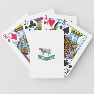 green vermont bicycle playing cards