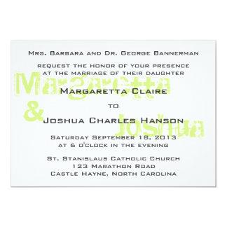 Green Vintage Brick Graffiti Wedding Invitation