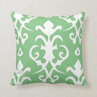 Green Vintage Pattern Damask Pillow