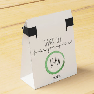 Green Watercolor Favor Boxes Wedding Favour Box