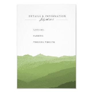 Green Watercolor Mountain Information Card