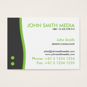 13 abn business cards and abn business card templates zazzle green wave business card light reheart Images