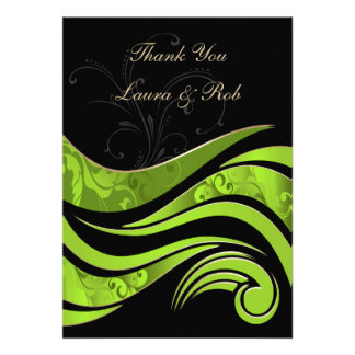 green wedding ThankYou Cards Personalized Invite