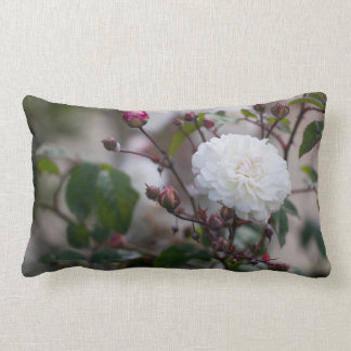 Green White Rose Floral Vintage Decorative Pillow Throw Cushion