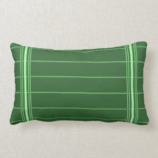 Green White Streaks : Add your photo or text Lumbar Pillow