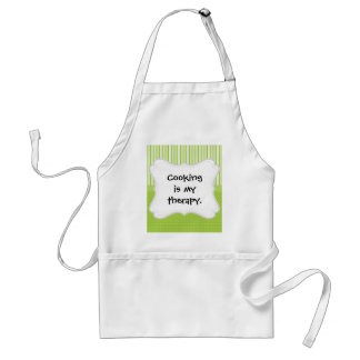 Green White Stripes and Polka Dots with a Ribbon Standard Apron