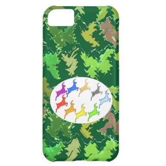 Green Wild Jungle n Deer Roaming iPhone 5C Case