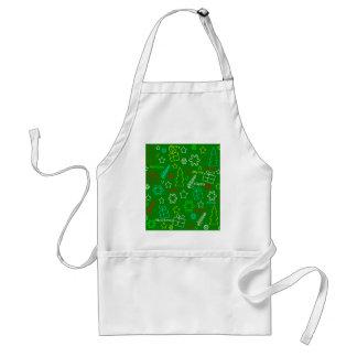 Green Xmas pattern Standard Apron