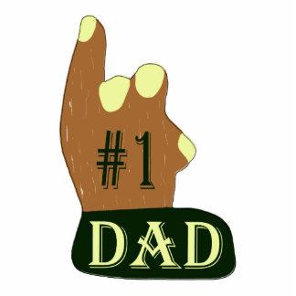Green Yellow #1 Dad Photo Sculpture Key Ring