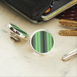 Green & Yellow Checkered Tubes Lapel Pin