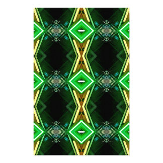 Green Yellow Neon Trendy Tribal Pattern Stationery