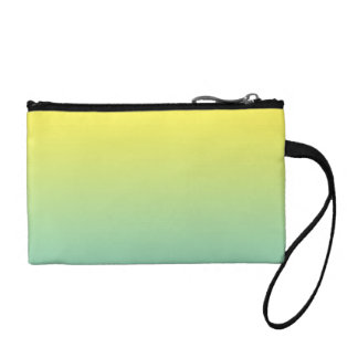 Green & Yellow Ombre Coin Purse
