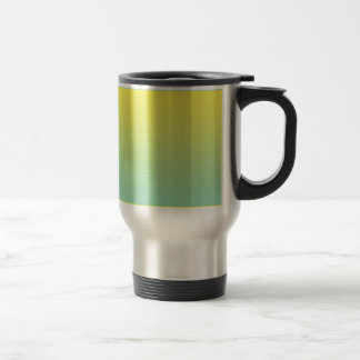 Green & Yellow Ombre Stainless Steel Travel Mug