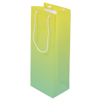 Green & Yellow Ombre Wine Gift Bag