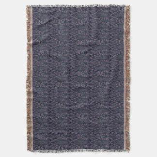 Green Zigzags Throw Blanket