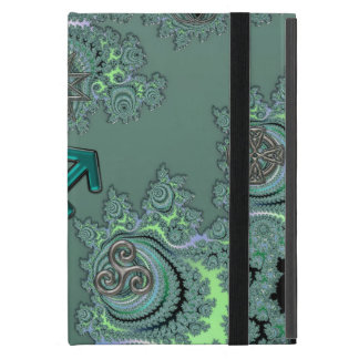 Green Zodiac Sign Sagittarius Celtic Symbols iPad Mini Cover