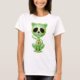 Green Zombie Sugar Kitten T-Shirt
