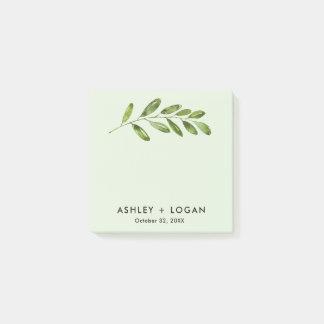 Greenery Leaves Modern Wedding Post-it Notes