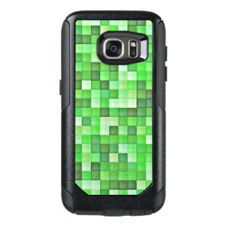 Greenish Mosaic Pattern OtterBox Samsung Galaxy S7 Case