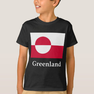 Greenland Flag And Name T-Shirt