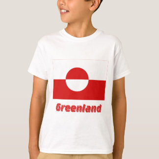 Greenland Flag with Name T-Shirt