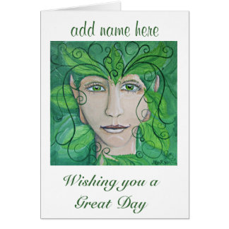 Greenman Greeting Card, Wood Nymph, Sprite Card