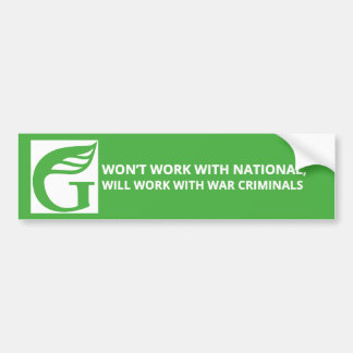 Greens - Won't work with National Bumper Sticker