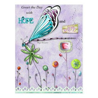 Greet the Day With Joy and Hope Postcard