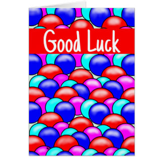 Greeting Card-Bright pattern- good luck Greeting Card