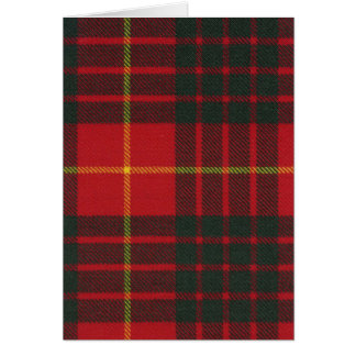 Greeting Card Cameron Clan Modern Tartan
