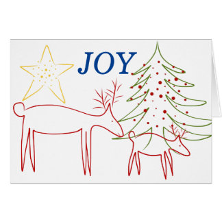 Greeting Card Christmas Reindeer Joy