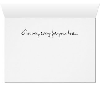 Greeting card Loss Grief Death