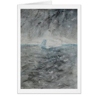 "Greeting Card - Painting ""Iceberg"""